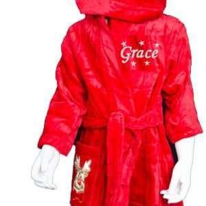 Red Reindeer Robe Personalised Christmas Gift embroidered Personalised Cotton On Personalised Christmas gifts Ireland
