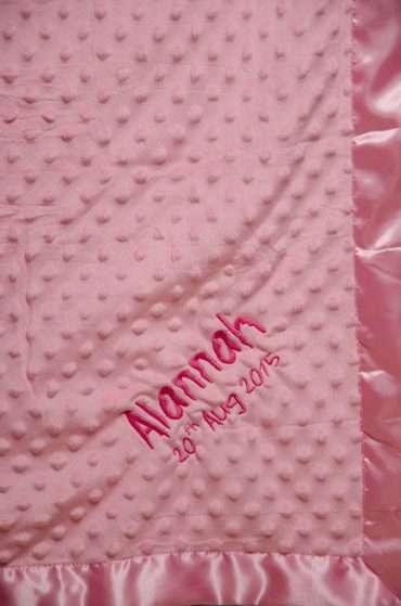Dotty Pram Blanket Pink
