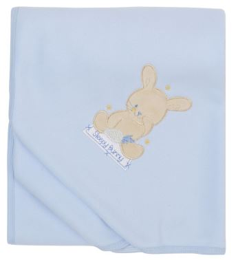 Baby Pram Blanket personalised embroidered baby gift blanket bunny new born babygift delivered name date of birth cotton on