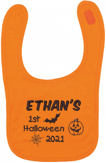 Personalised Halloween Bib Cotton On Embroidered creating lasting memories through personalised gifts