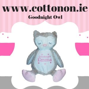 Goodnight Owl Zippie Buddie personalised by Cotton On will make a great Gift for children. personlaised baby gift Cotton On Gifts.