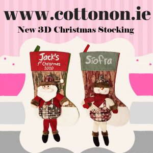New 3D Christmas Stocking with embroidery 2018 Personalised Christmas Stocking Santa Stocking