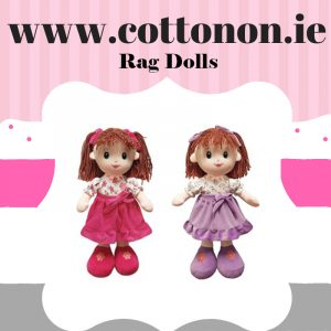 personalised gifts ireland cotton on Rag Doll personalised gift 1st birthday new baby girl pink purple