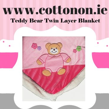 personalised gifts ireland Teddy Bear Twin Layer Blanket Pram Blanket personalised embroidered baby gift blanket new born babygift delivered name date of birth cotton on