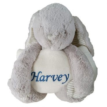 Personalised Rabbit and Blanket set Bear with baby Name, Cotton On Personalised gifts Ireland, Made to order, Delivered within 2-3 working days Shop In Ireland Shop Local