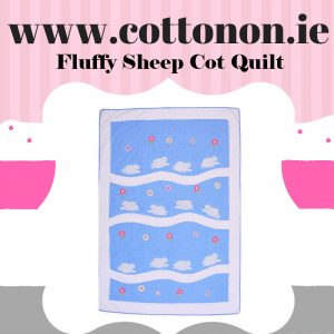 personalised gifts ireland Fluffy Sheep Cot Quilt Blanket personalised embroidered baby gift blanket new born babygift delivered name date of birth cotton on