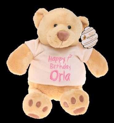 Honey Bear Personalised Teddy Gift Cotton On Embroidered Keepsake Birthday gift