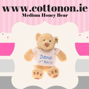 personalised gifts ireland Medium Honey bear, Cotton on personalised gift name newborn birthday