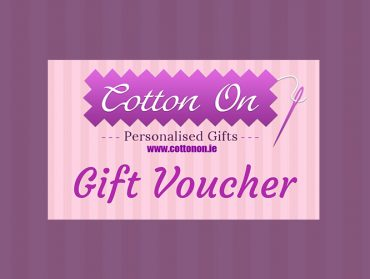 Cotton On Embroidered Personalised Gifts personalised baby blanket Gift Card Gift Voucher