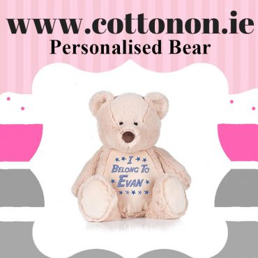 Personalised bear Zippie Buddie personalised by Cotton On will make a great Gift for children. personlaised baby gift Cotton On Gifts.