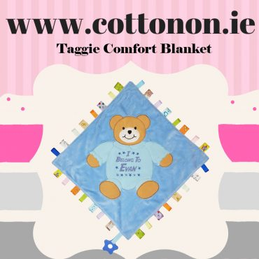 Cotton On personalised baby gifts ireland taggie large Teddy comforter blankie shop in Ireland personalised gifts