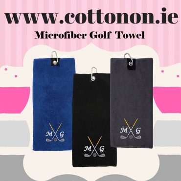 Personalised Golf Towel embroidered Father's gift delivered name golfer cotton on Gifts Personalised gifts ireland