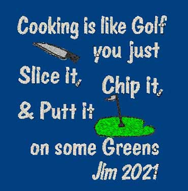 personalised Golf Theme embroidered Adult Apron Valentine gifts delivered cotton on Personalised gifts Ireland Golfer