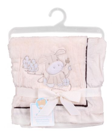Cute Donkey Pram Blanket personalised embroidered baby gift blanket new born babygift delivered boxset name date of birth cotton on