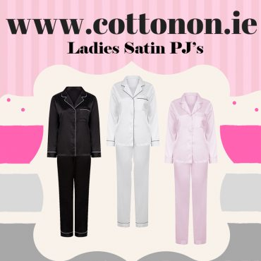 Ladies Satin Pyjamas personalised with embroidery Mothers day gift personalised Initials name Personalised Gift Ireland