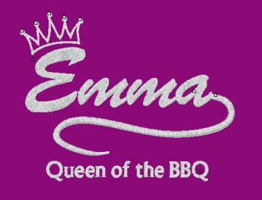 Queen of the BBQ Apron personalised embroidered Adult Apron Fathers Day gifts delivered cotton on Personalised gifts Ireland