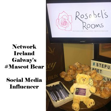 Network Galway Influencer Mascot Bear by Cotton On Business mascot Company Logo Personalised Bear great for Social Media and PR Influencer