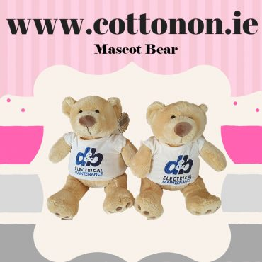 Mascot Bear by Cotton On Business mascot Company Logo Personalised Bear great for Social Media and PR Influencer